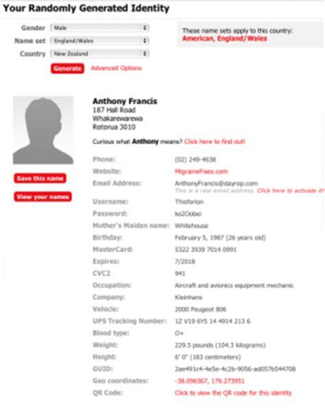 australian address generator printable receipt template