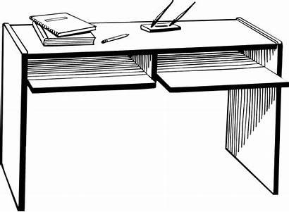 Desk Clip Clipart Office Pencil Teacher Transparent