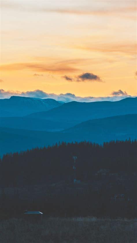 mountains evening sky clouds wallpaper