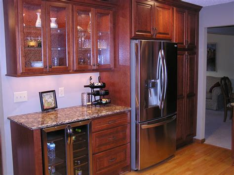 apple valley kitchen remodel featuring cherry cabinets