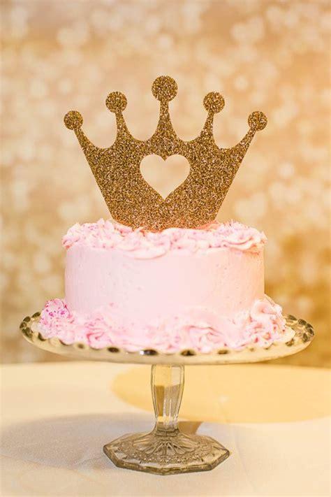 cake topper princess crown  birthday gold