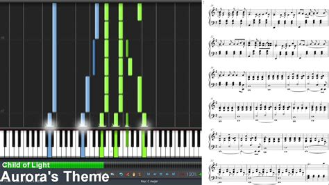 child  light auroras theme synthesia piano tutorial