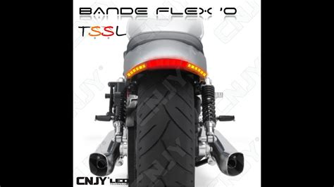 bande led bande led souple flexo tssl combine feux stop veilleuse repetiteur orange pour moto