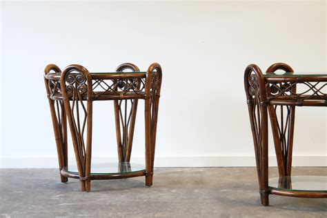 vintage verandah table ls peacock side table in stock naturally rattan and 6877