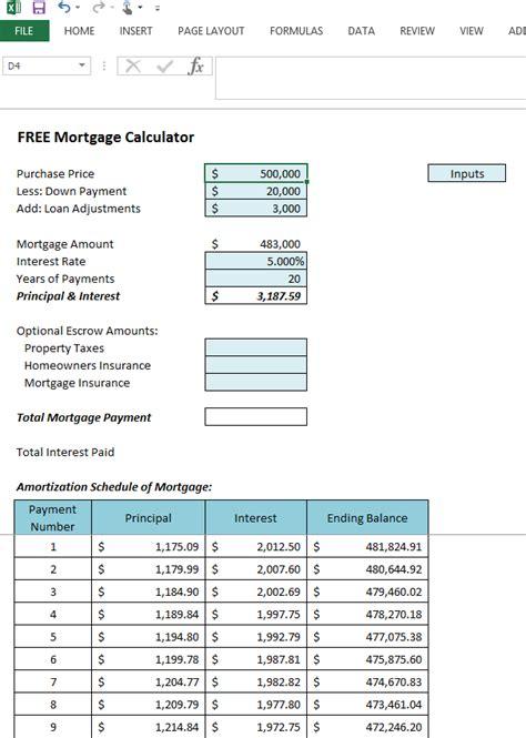 excel amortization excel mortgage amortization table 7