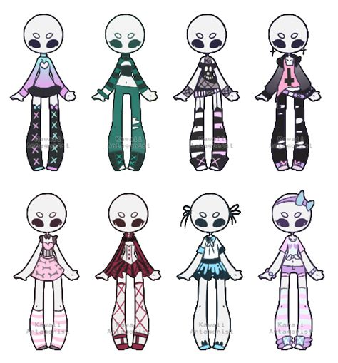 Pastel/grunge wardrobe 4 -closed by kawaii-antagonist | Drawing Fashion Design | Pinterest ...