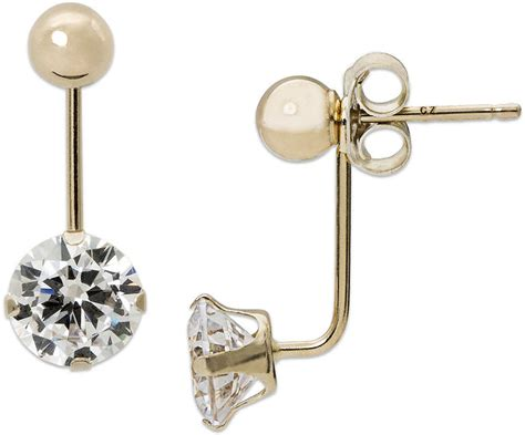 jcpenney fine jewelry cubic zirconia   yellow gold