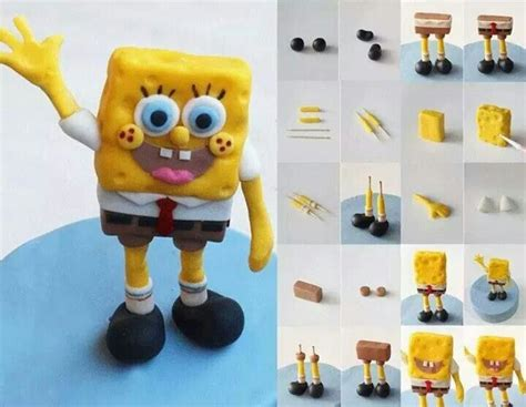 Bob esponja Bob esponja Figuras de fondant
