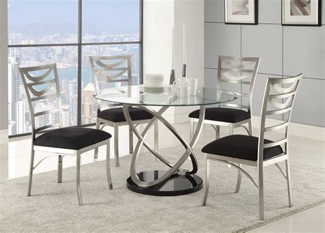 tapia silver metal dining room 121041 coaster furniture