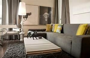 Deco Sejour Moderne : d co moderne pour le salon 85 id es avec canap gris ~ Teatrodelosmanantiales.com Idées de Décoration