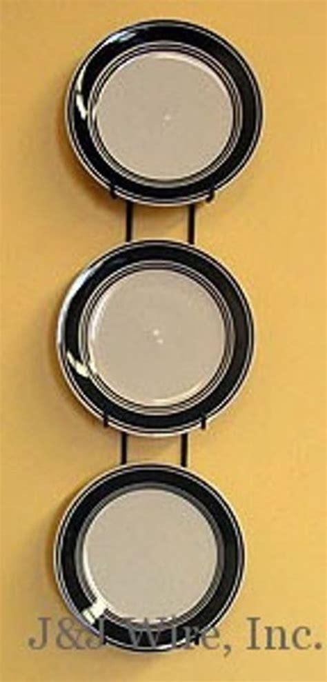 details   plate vertical wall display hanger holder    plates black metal plate