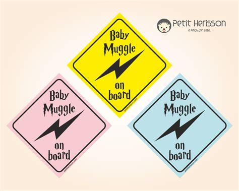 Baby Muggle On Board Type 3 Car Sign By Petitherissoncrafts