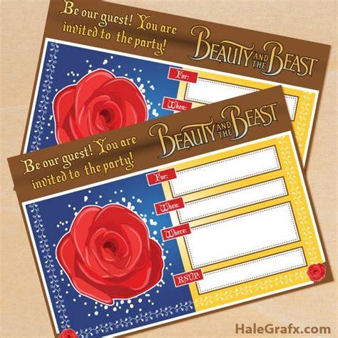 printable beauty   beast birthday invitation