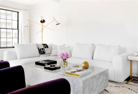 white marble living room table purple velvet chairs with chunky marble coffee table