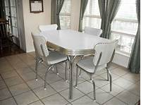 white kitchen table and chairs Vintage Retro 1950's White Kitchen or Dining Room Table ...