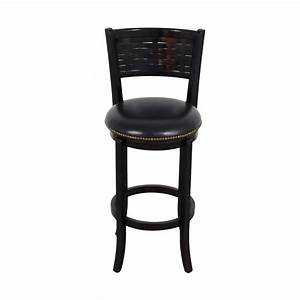 90 off black leather with nailhead swivel bar stool With 2nd hand bar stools