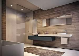 astuces pour ameliorer la decoration salle de bain With salle de bain design avec décoration cerf en bois