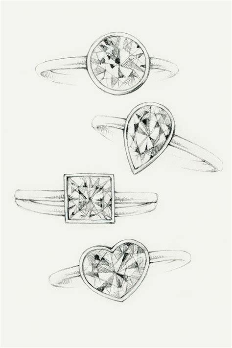 sketches  tiffany bezet diamond engagement rings