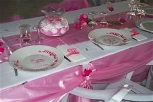 Deco Table Rose Et Gris : decoration de table rose et blanc ~ Melissatoandfro.com Idées de Décoration