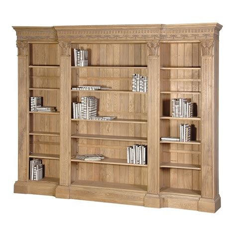 Oak Bookcase by Villeneuve Oak Breakfront Bookcase Large Oak Bookcase