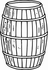 Barrel Clip Clipart Cask Clker Vector Domain sketch template