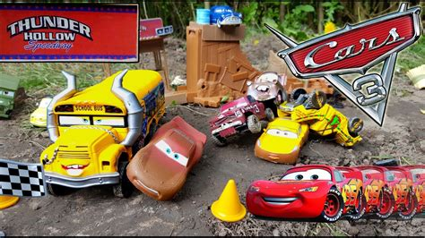 Demolition Derby Cars Toys by Disney Cars 3 Toys Lightning Mcqueen Ramirez Vs Miss