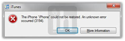 the iphone could not be restored 3194 fix error 3194 when restoring stock custom firmware ios