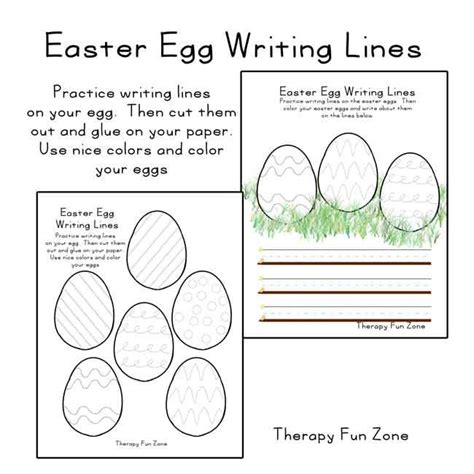 easter egg writing lines easter writing lines
