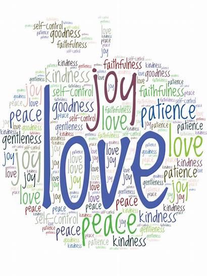 Spirit Fruit Word Cloud Christian Galatians Gift