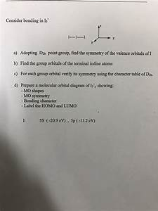 Solved  Adopting D 2h Point Group  Find The Symmetry Of Th