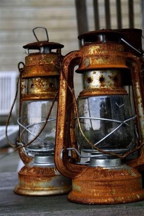rusty  railroad lanterns  lanterns vintage