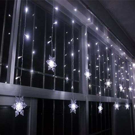 snowflake hanging led string light festival