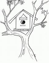 Coloring Bird Birdhouse Pages Drawing Sheet Sheets Drawings Popular Getdrawings Incoming Favorite Posts Coloringhome Clolour sketch template