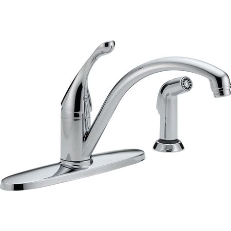 kitchen faucet home depot delta single handle standard kitchen faucet in