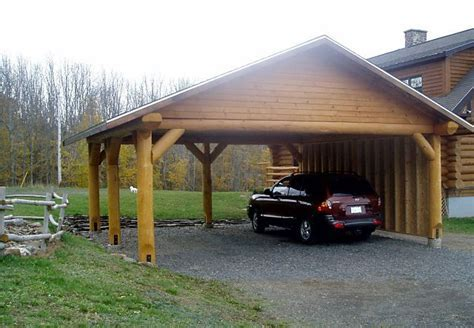 Carport Designs   Log Post and Beam and Trusses   Car