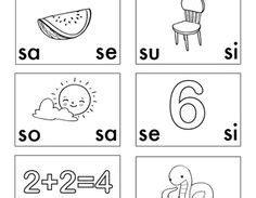 letra s sa se si so su bundle dual language and language