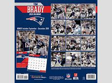 New England Patriots Tom Brady 2019 NFL Wall Calendar