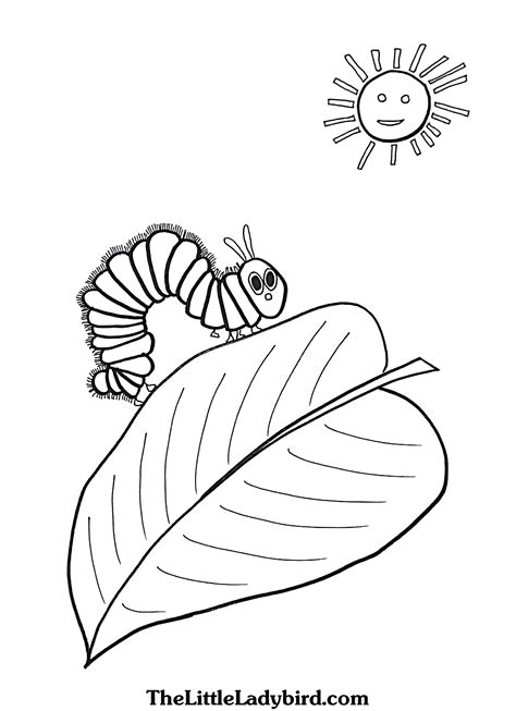 hungry caterpillar coloring pages hungry caterpillar coloring page leaf coloring pages