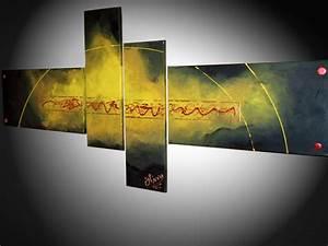 Tableau Contemporain Grand Format : tableau art abstrait contemporain grand format ~ Teatrodelosmanantiales.com Idées de Décoration