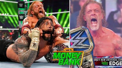 Full match — money in the bank wwe world heavyweight title contract match: Edge Defeats Roman Reigns And Wins Universal Title At WWE Money In The Bank 2021 ? Edge Vs Roman ...