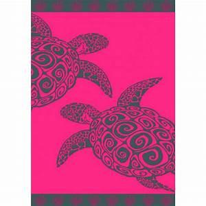 Serviette De Plage Xxl : drap de plage fuschia turtle ~ Teatrodelosmanantiales.com Idées de Décoration