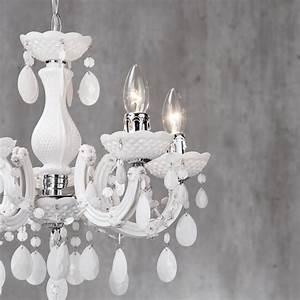 Light chandelier ceiling lighting home white crystal