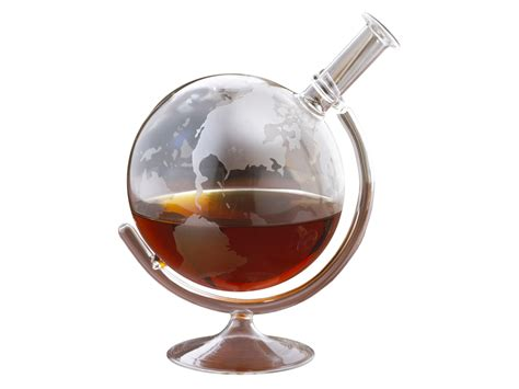 Wine Enthusiast Etched Globe Whiskey Decanter