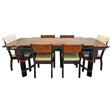 table co 1936 donald deskey streamline dining set for hastings table company at 1stdibs