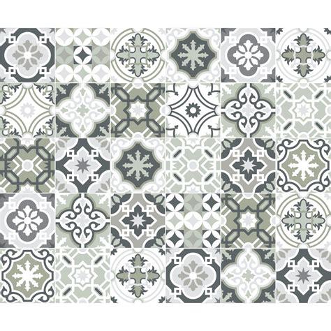 stickers carrelage carreaux de ciment 30 stickers carreaux de ciment nuances de gris oslo salle de bain et wc salle de bain