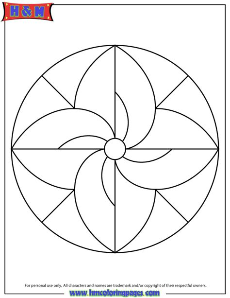 easy coloring pages easy mandala coloring page for children h m coloring pages