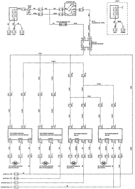 2002 Gmc W5500 Wiring Diagram by Power Window Master Switch Harness Wiring Diagram