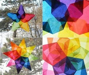 Weihnachtsdeko Basteln Papier : weihnachtsdeko f r fenster sterne aus transparentpapier ~ Lizthompson.info Haus und Dekorationen