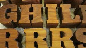 custom wood letters wooden lettering With routing out letters in wood