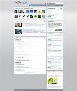 friendsnet premium joomla template for social network sites With social networking sites templates php